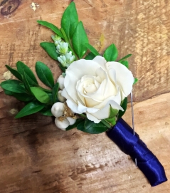 Blue Ribbon Boutonniere