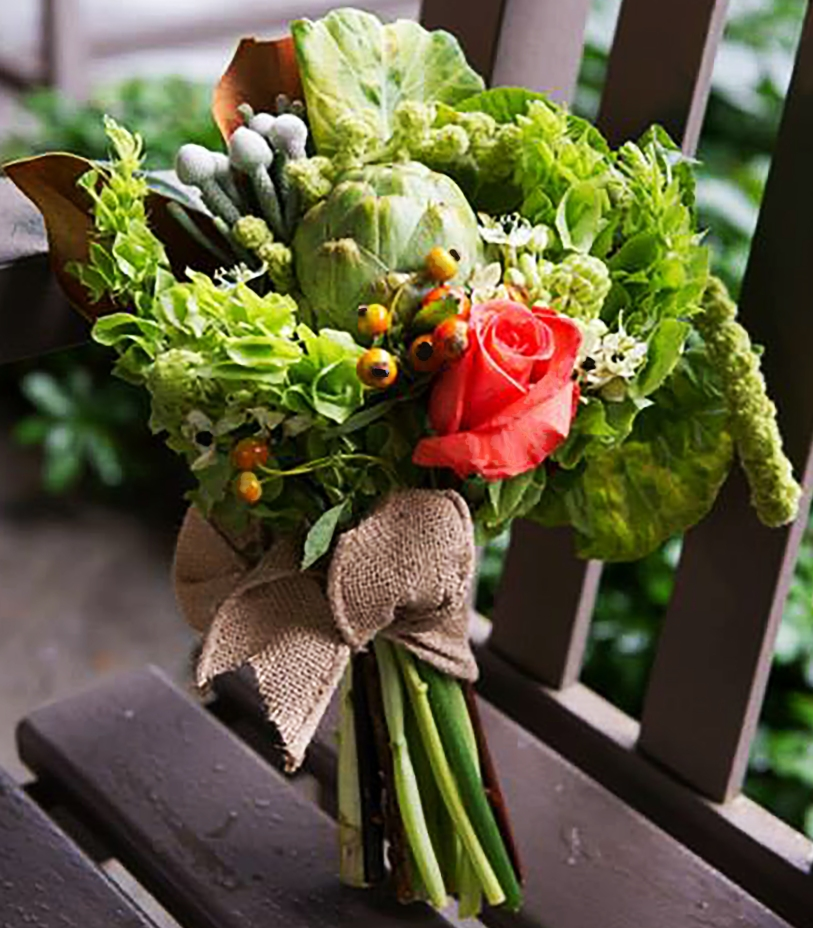 Burlap Ribbon Bouquet