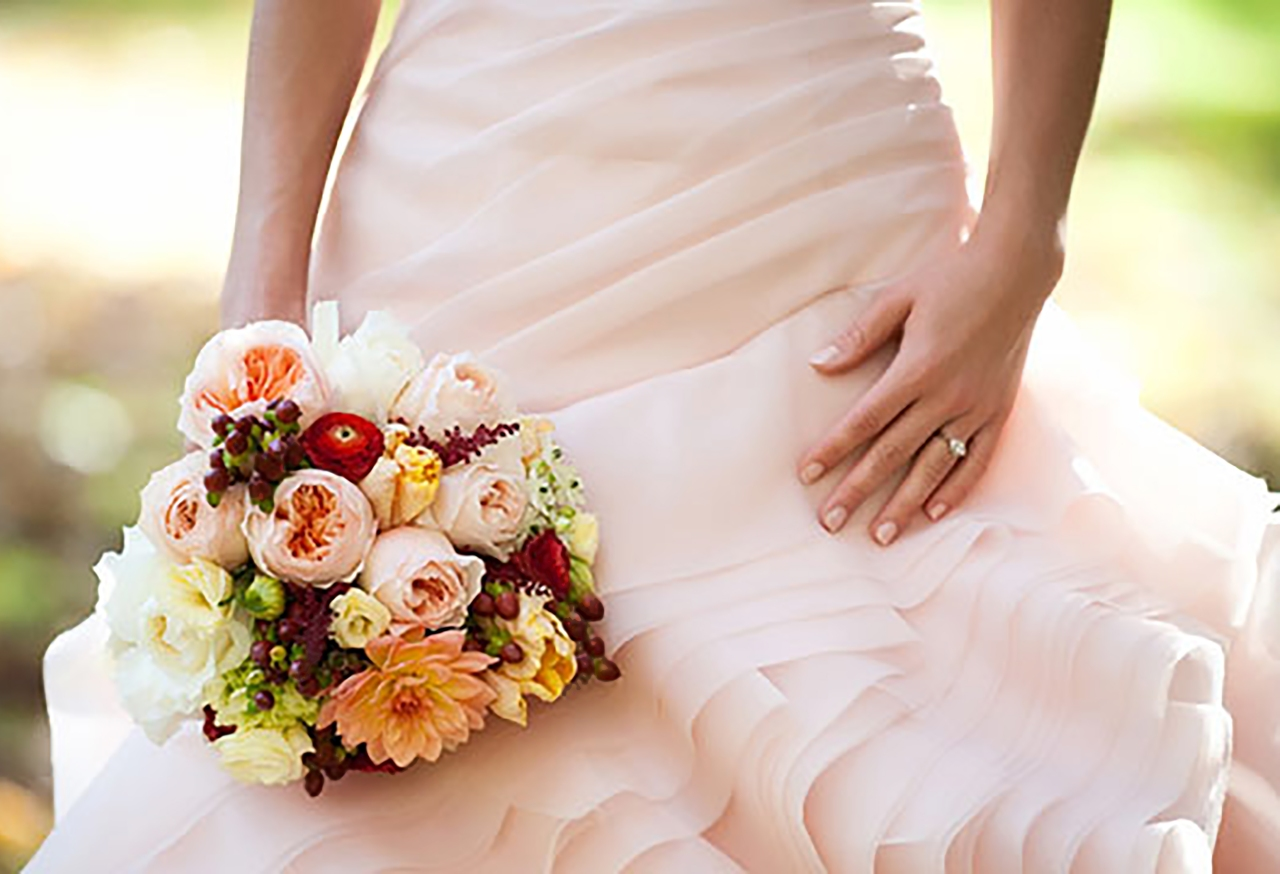 Ruffly Dress Bouquet