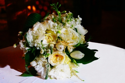White Bouquet on Table