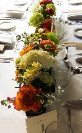 Wolfgang Rehearsal Dinner Flowers